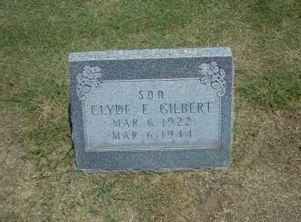 GILBERT, CLYDE E - Stevens County, Kansas   CLYDE E GILBERT - Kansas Gravestone Photos