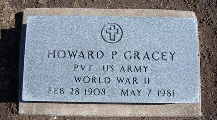 GRACEY, HOWARD POPE  (VETERAN WWII)) - Stevens County, Kansas   HOWARD POPE  (VETERAN WWII)) GRACEY - Kansas Gravestone Photos
