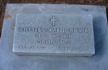 GRAVES, CHARLES JOSEPH  (VETERAN WWII) - Stevens County, Kansas   CHARLES JOSEPH  (VETERAN WWII) GRAVES - Kansas Gravestone Photos