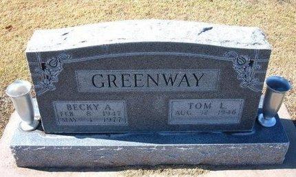 GREENWAY, BECKY A - Stevens County, Kansas   BECKY A GREENWAY - Kansas Gravestone Photos