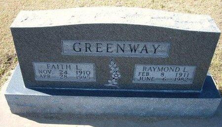 GREENWAY, RAYMOND L - Stevens County, Kansas | RAYMOND L GREENWAY - Kansas Gravestone Photos