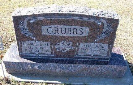 GRUBBS, FRANCIS EARL - Stevens County, Kansas | FRANCIS EARL GRUBBS - Kansas Gravestone Photos