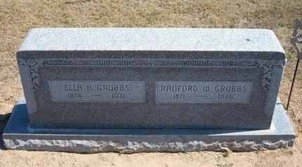 GRUBBS, ELLA A - Stevens County, Kansas   ELLA A GRUBBS - Kansas Gravestone Photos