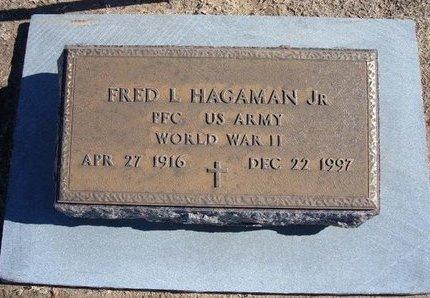 HAGAMAN, FRED LAFAYETTE, JR (VETERAN WWII) - Stevens County, Kansas   FRED LAFAYETTE, JR (VETERAN WWII) HAGAMAN - Kansas Gravestone Photos