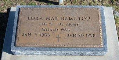 HAMILTON, LORA MAY  (VETERAN WWII) - Stevens County, Kansas | LORA MAY  (VETERAN WWII) HAMILTON - Kansas Gravestone Photos