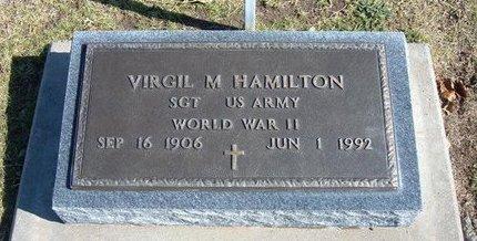 HAMILTON, VIRGIL M  (VETERAN WWII) - Stevens County, Kansas | VIRGIL M  (VETERAN WWII) HAMILTON - Kansas Gravestone Photos