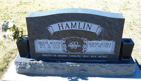 HAMLIN, DUANE AUSTIN - Stevens County, Kansas   DUANE AUSTIN HAMLIN - Kansas Gravestone Photos