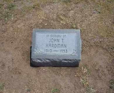 HARDMAN, JOHN T - Stevens County, Kansas | JOHN T HARDMAN - Kansas Gravestone Photos