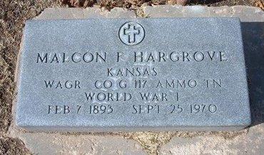 HARGROVE, MALCOM F  (VETERAN WWI) - Stevens County, Kansas | MALCOM F  (VETERAN WWI) HARGROVE - Kansas Gravestone Photos