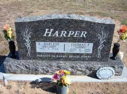 "HARPER, THOMAS F ""TOMMY"" - Stevens County, Kansas | THOMAS F ""TOMMY"" HARPER - Kansas Gravestone Photos"