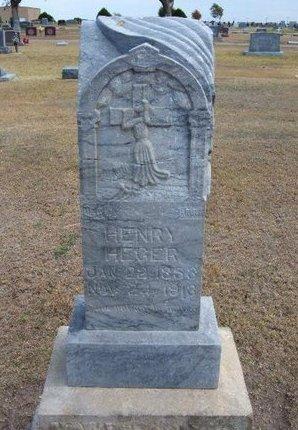 HEGER, HENRY - Stevens County, Kansas   HENRY HEGER - Kansas Gravestone Photos