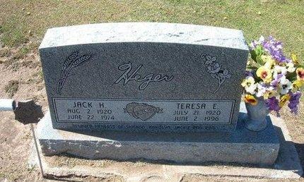HEGER, JACK H - Stevens County, Kansas   JACK H HEGER - Kansas Gravestone Photos