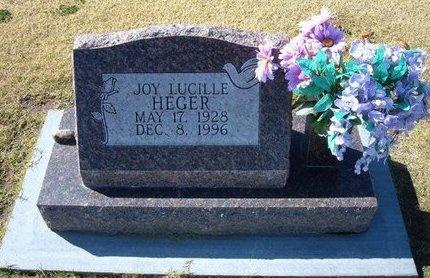 HEGER, JOY LUCILLE - Stevens County, Kansas | JOY LUCILLE HEGER - Kansas Gravestone Photos