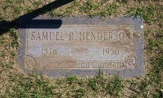 HENDERSON, SAMUEL R   (VETERAN WWI) - Stevens County, Kansas   SAMUEL R   (VETERAN WWI) HENDERSON - Kansas Gravestone Photos