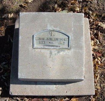 HENDERSON, PERL P - Stevens County, Kansas | PERL P HENDERSON - Kansas Gravestone Photos