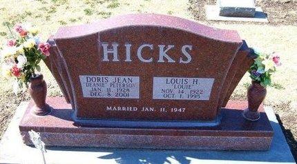 PETERSON HICKS, DORIS JEAN - Stevens County, Kansas   DORIS JEAN PETERSON HICKS - Kansas Gravestone Photos