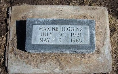 HIGGINS, MAXINE - Stevens County, Kansas | MAXINE HIGGINS - Kansas Gravestone Photos