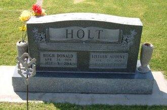 HOLT, HUGH DONALD   (VETERAN) - Stevens County, Kansas | HUGH DONALD   (VETERAN) HOLT - Kansas Gravestone Photos