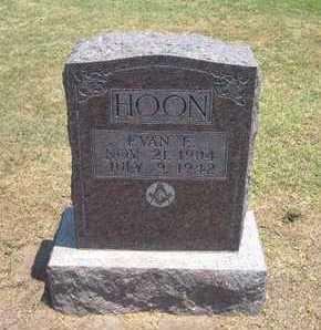 HOON, EVAN E - Stevens County, Kansas | EVAN E HOON - Kansas Gravestone Photos