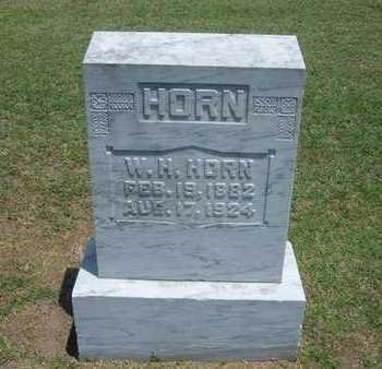 HORN, W H - Stevens County, Kansas | W H HORN - Kansas Gravestone Photos