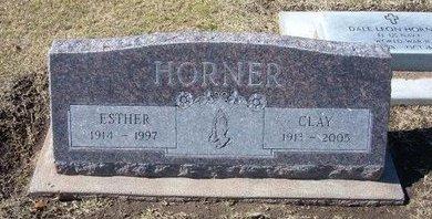 BERGFELD HORNER, ESTHER EMMA - Stevens County, Kansas | ESTHER EMMA BERGFELD HORNER - Kansas Gravestone Photos