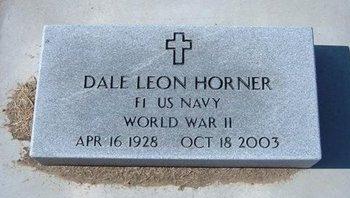 HORNER, DALE LEON   (VETERAN WWII) - Stevens County, Kansas | DALE LEON   (VETERAN WWII) HORNER - Kansas Gravestone Photos