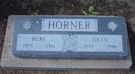 HORNER, ORAN - Stevens County, Kansas | ORAN HORNER - Kansas Gravestone Photos