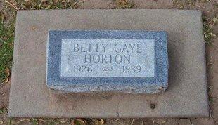 HORTON, BETTY GAYE - Stevens County, Kansas | BETTY GAYE HORTON - Kansas Gravestone Photos