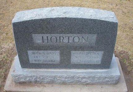 BURROWS HORTON, ROXIE VIOLA - Stevens County, Kansas   ROXIE VIOLA BURROWS HORTON - Kansas Gravestone Photos