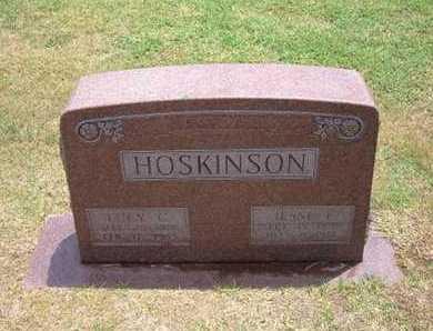 HOSKINSON, JESSE EVENTIUS - Stevens County, Kansas | JESSE EVENTIUS HOSKINSON - Kansas Gravestone Photos