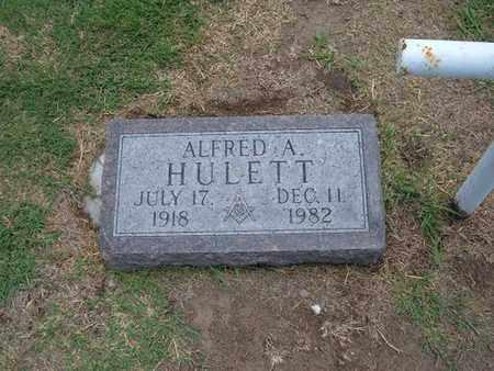 HULETT, ALFRED A - Stevens County, Kansas | ALFRED A HULETT - Kansas Gravestone Photos