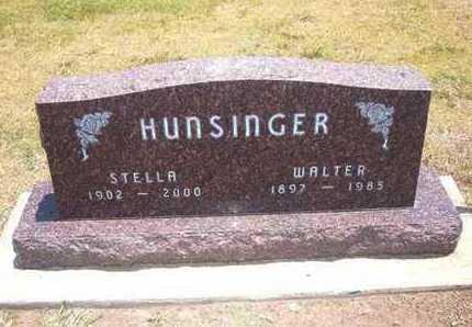 HUNSINGER, WALTER KLAUS - Stevens County, Kansas | WALTER KLAUS HUNSINGER - Kansas Gravestone Photos