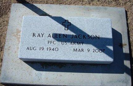 JACKSON, RAY ALLEN   (VETERAN) - Stevens County, Kansas | RAY ALLEN   (VETERAN) JACKSON - Kansas Gravestone Photos