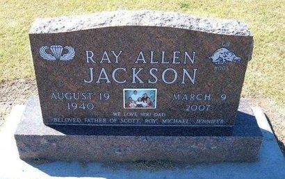 JACKSON, RAY ALLEN - Stevens County, Kansas | RAY ALLEN JACKSON - Kansas Gravestone Photos