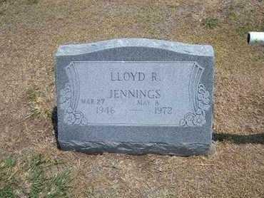JENNINGS, LLOYD R. - Stevens County, Kansas | LLOYD R. JENNINGS - Kansas Gravestone Photos