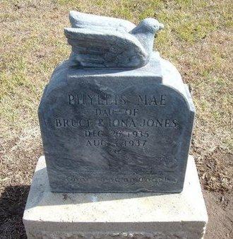 JONES, PHYLLIS MAE - Stevens County, Kansas | PHYLLIS MAE JONES - Kansas Gravestone Photos