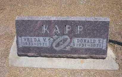 KAPP, DONALD KEITH - Stevens County, Kansas   DONALD KEITH KAPP - Kansas Gravestone Photos