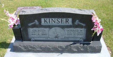KINSER, IDA RUTH - Stevens County, Kansas | IDA RUTH KINSER - Kansas Gravestone Photos