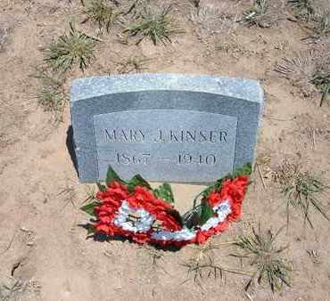 KINSER, MARY J. - Stevens County, Kansas | MARY J. KINSER - Kansas Gravestone Photos