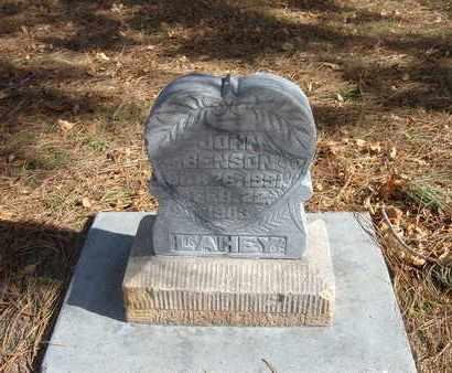 LAHEY, JOHN BENSON - Stevens County, Kansas | JOHN BENSON LAHEY - Kansas Gravestone Photos