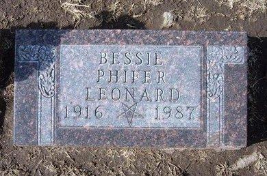LEONARD, BESSIE - Stevens County, Kansas | BESSIE LEONARD - Kansas Gravestone Photos