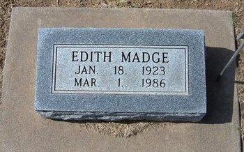 LEONARD, EDITH MADGE - Stevens County, Kansas   EDITH MADGE LEONARD - Kansas Gravestone Photos