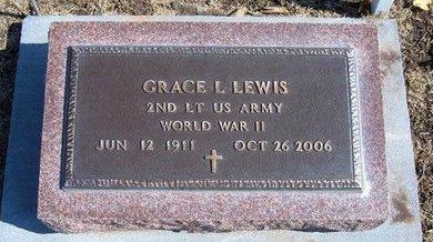 LEWIS, GRACE L  (VETERAN WWII) - Stevens County, Kansas   GRACE L  (VETERAN WWII) LEWIS - Kansas Gravestone Photos