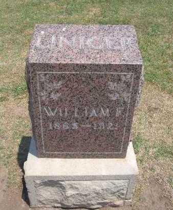 LINIGER, WILLIAM F - Stevens County, Kansas | WILLIAM F LINIGER - Kansas Gravestone Photos