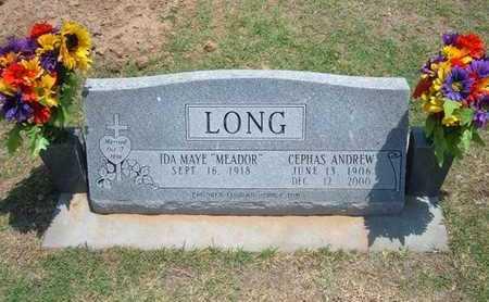 MEADOR LONG, IDA MAYE - Stevens County, Kansas | IDA MAYE MEADOR LONG - Kansas Gravestone Photos