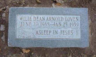 LOVEN, WILLIE DEAN ARNOLD - Stevens County, Kansas | WILLIE DEAN ARNOLD LOVEN - Kansas Gravestone Photos