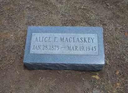 MACLASKEY, ALICE F - Stevens County, Kansas | ALICE F MACLASKEY - Kansas Gravestone Photos