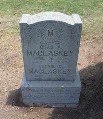 MACLASKEY, CHARLES A - Stevens County, Kansas | CHARLES A MACLASKEY - Kansas Gravestone Photos