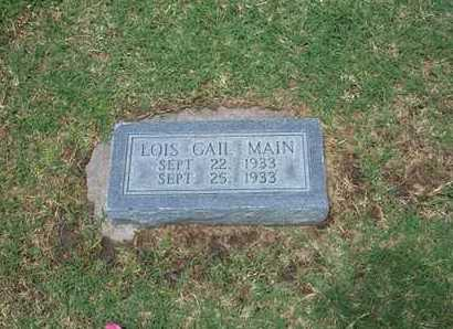 MAIN, LOIS GAIL - Stevens County, Kansas | LOIS GAIL MAIN - Kansas Gravestone Photos