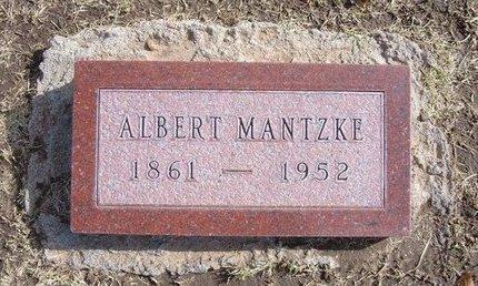 MANTZKE, ALBERT - Stevens County, Kansas   ALBERT MANTZKE - Kansas Gravestone Photos